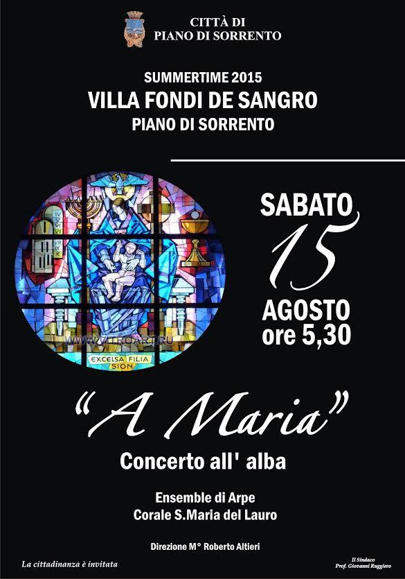 Concerto all'alba a Piano di Sorrento 2015 - Villa Fondi