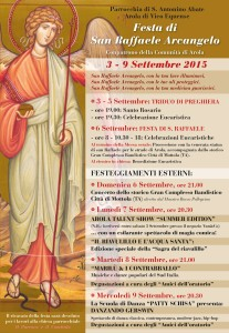 Festa di San Raffaele Arola 2015