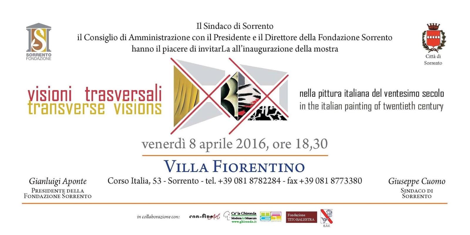 Visioni trasversali - Mostra d'arte a Sorrento 2016