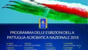 Frecce Tricolori a Sorrento il 28 Aprile 2018